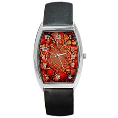 Dreamcatcher Stained Glass Barrel Style Metal Watch