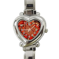 Dreamcatcher Stained Glass Heart Italian Charm Watch
