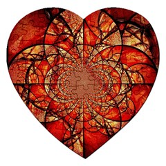 Dreamcatcher Stained Glass Jigsaw Puzzle (Heart)