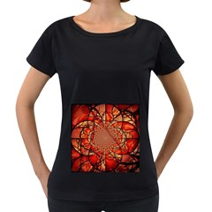 Dreamcatcher Stained Glass Women s Loose-Fit T-Shirt (Black)