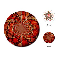Dreamcatcher Stained Glass Playing Cards (round)