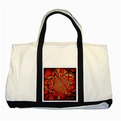 Dreamcatcher Stained Glass Two Tone Tote Bag
