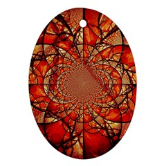 Dreamcatcher Stained Glass Oval Ornament (Two Sides)