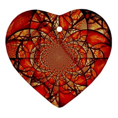 Dreamcatcher Stained Glass Heart Ornament (two Sides)