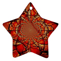 Dreamcatcher Stained Glass Star Ornament (two Sides)