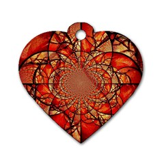 Dreamcatcher Stained Glass Dog Tag Heart (one Side)