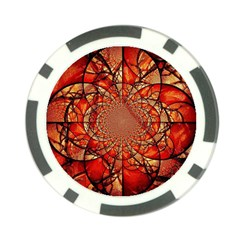 Dreamcatcher Stained Glass Poker Chip Card Guard