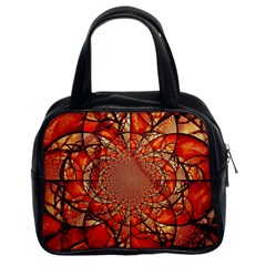 Dreamcatcher Stained Glass Classic Handbags (2 Sides)