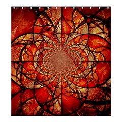Dreamcatcher Stained Glass Shower Curtain 66  X 72  (large)