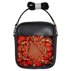 Dreamcatcher Stained Glass Girls Sling Bags