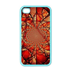 Dreamcatcher Stained Glass Apple Iphone 4 Case (color)
