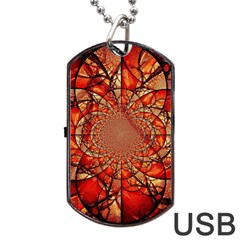 Dreamcatcher Stained Glass Dog Tag Usb Flash (one Side)