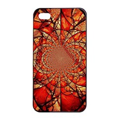 Dreamcatcher Stained Glass Apple Iphone 4/4s Seamless Case (black)