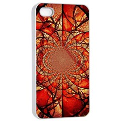 Dreamcatcher Stained Glass Apple Iphone 4/4s Seamless Case (white)