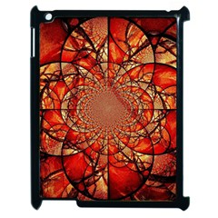 Dreamcatcher Stained Glass Apple iPad 2 Case (Black)