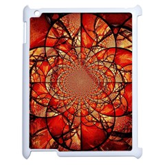 Dreamcatcher Stained Glass Apple iPad 2 Case (White)