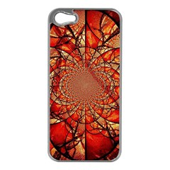 Dreamcatcher Stained Glass Apple Iphone 5 Case (silver)