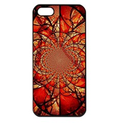 Dreamcatcher Stained Glass Apple Iphone 5 Seamless Case (black)