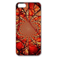 Dreamcatcher Stained Glass Apple Seamless iPhone 5 Case (Clear)