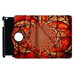 Dreamcatcher Stained Glass Apple iPad 2 Flip 360 Case
