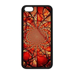 Dreamcatcher Stained Glass Apple iPhone 5C Seamless Case (Black)