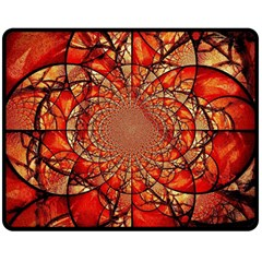 Dreamcatcher Stained Glass Double Sided Fleece Blanket (medium)