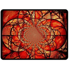 Dreamcatcher Stained Glass Double Sided Fleece Blanket (large)