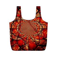 Dreamcatcher Stained Glass Full Print Recycle Bags (m)