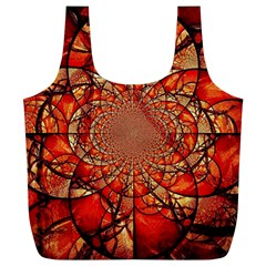 Dreamcatcher Stained Glass Full Print Recycle Bags (L)