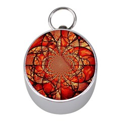 Dreamcatcher Stained Glass Mini Silver Compasses
