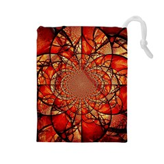 Dreamcatcher Stained Glass Drawstring Pouches (large)