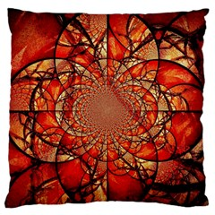 Dreamcatcher Stained Glass Standard Flano Cushion Case (Two Sides)