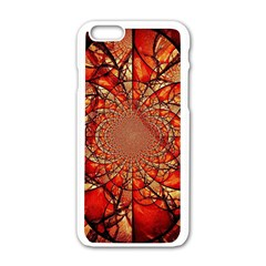Dreamcatcher Stained Glass Apple Iphone 6/6s White Enamel Case