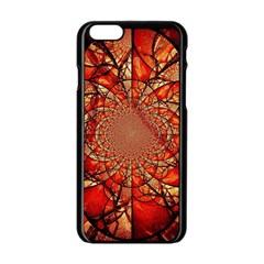 Dreamcatcher Stained Glass Apple Iphone 6/6s Black Enamel Case