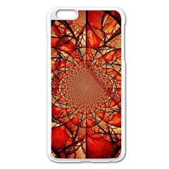 Dreamcatcher Stained Glass Apple iPhone 6 Plus/6S Plus Enamel White Case