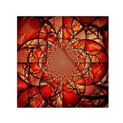 Dreamcatcher Stained Glass Small Satin Scarf (square)