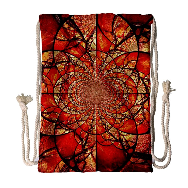 Dreamcatcher Stained Glass Drawstring Bag (Large)