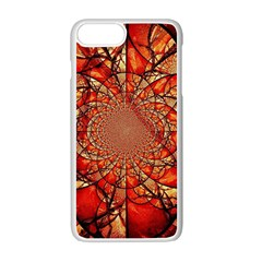 Dreamcatcher Stained Glass Apple Iphone 7 Plus White Seamless Case