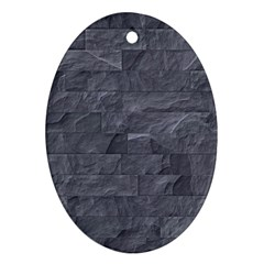 Excellent Seamless Slate Stone Floor Texture Ornament (oval)