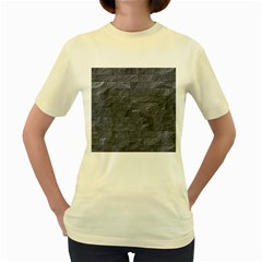 Excellent Seamless Slate Stone Floor Texture Women s Yellow T Shirt