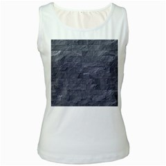 Excellent Seamless Slate Stone Floor Texture Women s White Tank Top