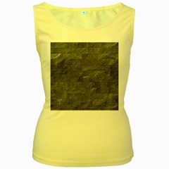 Excellent Seamless Slate Stone Floor Texture Women s Yellow Tank Top