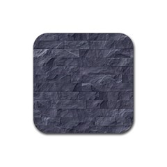Excellent Seamless Slate Stone Floor Texture Rubber Square Coaster (4 pack)