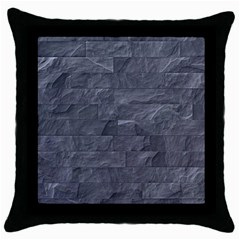 Excellent Seamless Slate Stone Floor Texture Throw Pillow Case (black)