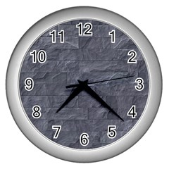Excellent Seamless Slate Stone Floor Texture Wall Clocks (Silver)