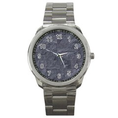 Excellent Seamless Slate Stone Floor Texture Sport Metal Watch