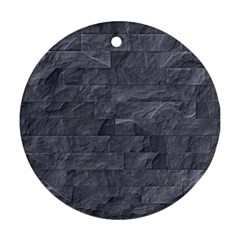 Excellent Seamless Slate Stone Floor Texture Round Ornament (two Sides)
