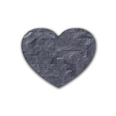 Excellent Seamless Slate Stone Floor Texture Rubber Coaster (heart)