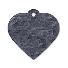 Excellent Seamless Slate Stone Floor Texture Dog Tag Heart (two Sides)