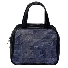 Excellent Seamless Slate Stone Floor Texture Classic Handbags (one Side)
